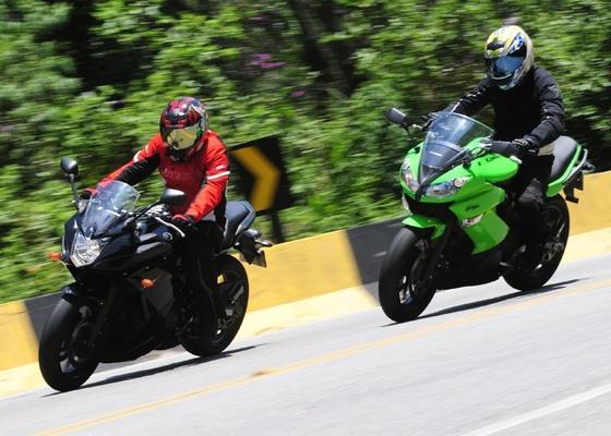 Yamaha XJ6F (esquerda) e Kawasaki Ninja 650R têm preços e propostas semelhantes