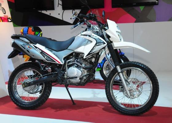 A moto trail Explorer é uma das motos expostas pela chinesa Shineray no Salão Duas Rodas