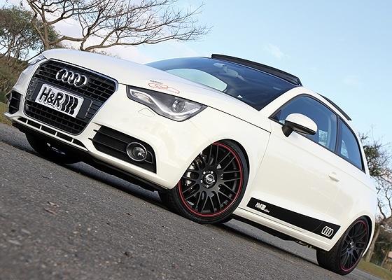 <b>Audi A1 preparado foi parar nas mãos da H&R: o baixinho ficou mais invocado</b>