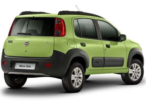 Fiat Novo Uno na versão aventureira Way; lançamento oficial ocorre dias 4, 5 e 6 de maio - Divulgação