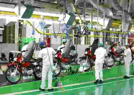 Destinada exclusivamente a fabricar modelos de até 125 cc, a nova instalação cria mais de 700 empregos na capital manauara - Divulgação