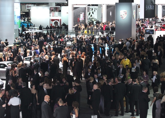 Público em uma das noites de prévia no Salão de Detroit, na semana passada