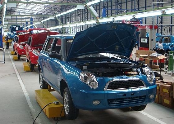 <b>Fábrica da Lifan no Uruguai, onde são montados os modelos 320 (foto) e 620</b> - Divulgação