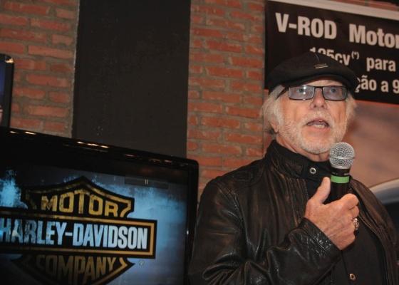 William G. Davidson, neto de um dos fundadores da Harley-Davidson, esteve em São Paulo na última quarta-feira (18) para inaugurar a primeira loja no Brasil sob gestão direta da matriz - Arthur Caldeira/Infomoto