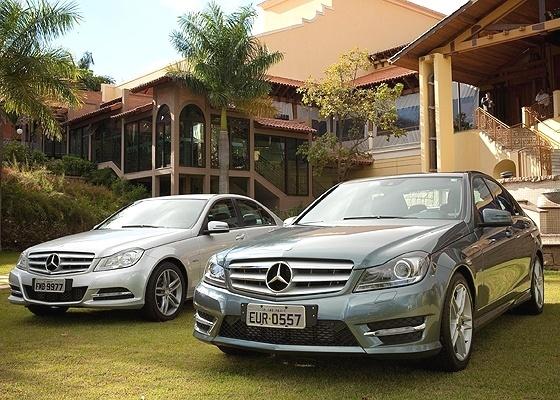 <b>Mercedes-Benz Classe C: à esquerda, visual do C 180 e 200; à direita, o invocado C 250</b> - Divulgação