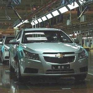 <b>Chevrolet Cruze na linha de montagem na China: o carro mais importante no país idem</b> - Reprodução