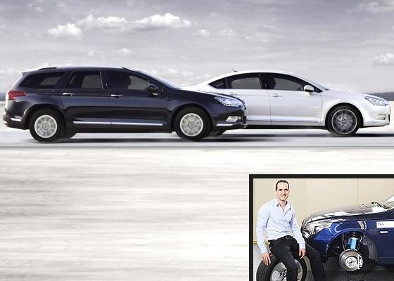 Suspensão ativa: no Citroën C5, entre outros modelos, ela é hidráulica, mas trabalho de doutorado na Holanda aposta em sistema eletromagnético, por ora testado num Série 5 (detalhe) - Divulgação