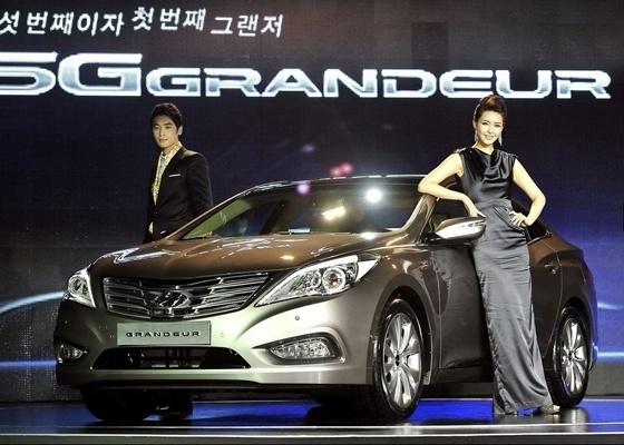 Hyundai Grandeur em seu lançamento; no Brasil, ele é o novo Azera - Reprodução