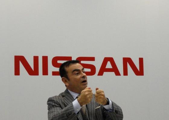<b>Carlos Ghosn, presidente da aliança Renault-Nissan, em entrevista no Salão de Tóquio</b> - Claudio de Souza/UOL