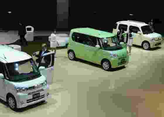 <b>Vamos brincar de carrinho? Estande da Daihatsu no Salão de Tóquio</b> - Claudio de Souza/UOL