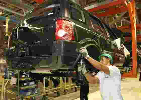 Linha de montagem do EcoSport em Camaçari (BA): um grande negócio para a Ford - Folhapress