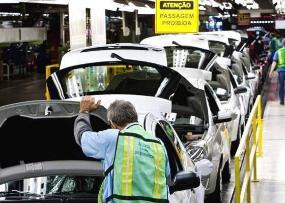 Linha de montagem da Ford no ABC: montadora é prudente, mas ficou para trás - Rodrigo Paiva/Folhapress