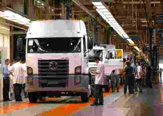 Na imagem, fábrica de caminhões da Volkswagen, operada pela MAN Latin America - Divulgação