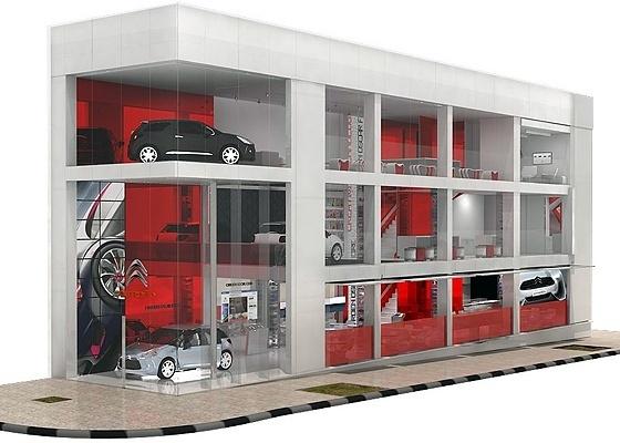 """Projeção do """"espaço"""" Citroën Oscar Freire: tudo pela marca, menos vender carros - Divulgação"""