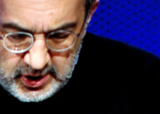 Imagem de Sergio Marchionne, CEO da Fiat, em telão durante sua fala no congresso da Nada - Claudio Luis de Souza/UOL