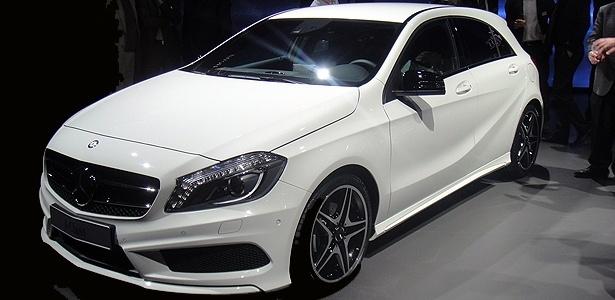 O Mercedes-Benz Classe A no pré-lançamento, nesta segunda (5), em Genebra - Rodrigo Lara/UOL