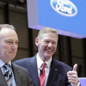 Alan Mulally, chefão da Ford: pelo menos por enquanto, está tudo bem por lá... - Reuters